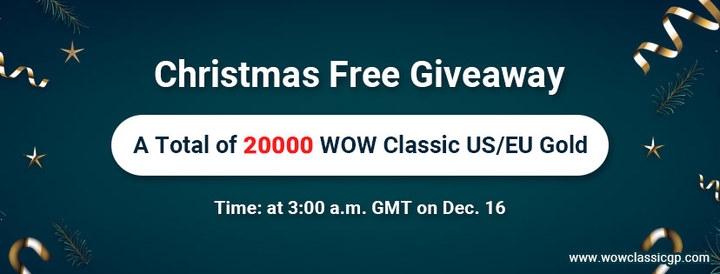 Christmas Giveaway:Free 2000 cheap eu wow classic gold on wowcl